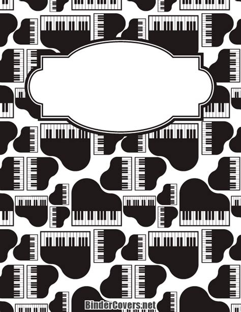 printable piano binder cover
