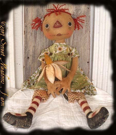 pattern and posey etsy primitive e pattern raggedy doll posey ann with daisy flower