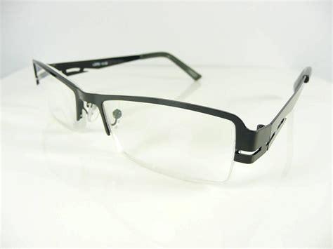 new mens semi rimless black reading glasses 1 1 5 1 75