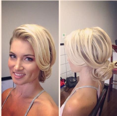 how to comb a bun with side swept bangs side swept tousled updo by suzikimbridalhair updos big