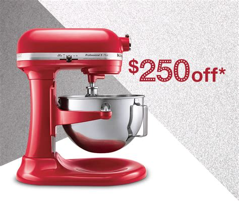 Professional KitchenAid Mixer   $199 ($250 Off)   2 Days