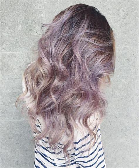 subtle hair color most subtle cool hair color smoky lilac hair color