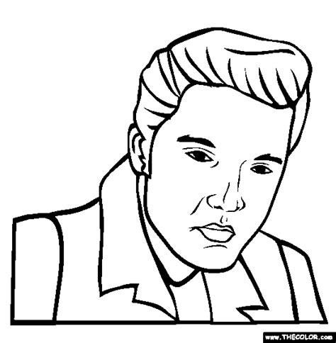 Famous People Online Coloring Pages Page 1 Elvis Coloring Pages