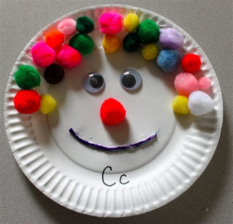 Paper Plate Crafts - the activity paper plate craft c is for clown