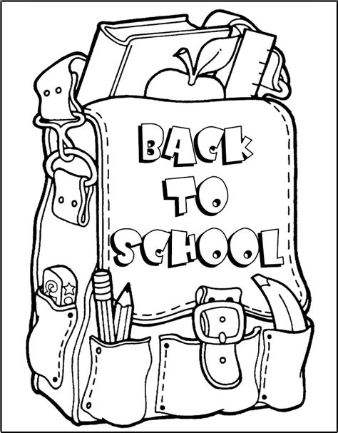 Back To School Coloring Page Back To School Coloring Pages For Preschool