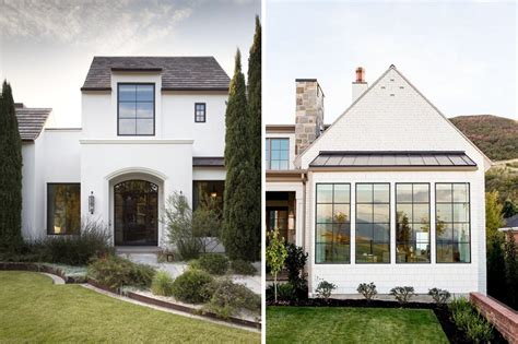 white house with black windows an urban cottage window sidelights exterior before after