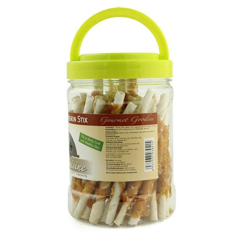 puppy chew treats pet cuisine treats puppy chews snacks chicken pigskin stix woofwoof