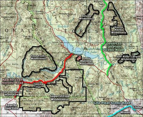 apache trail map tonto national monument national park service in