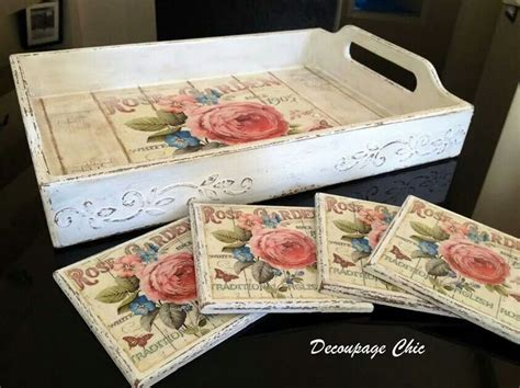 Decoupage Tray Ideas - coasters and tray decoupage ideas trays