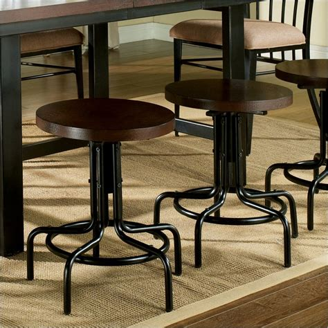 Espresso Wood Bar Stools steve silver company crosby swivel black metal espresso wood bar stool ebay
