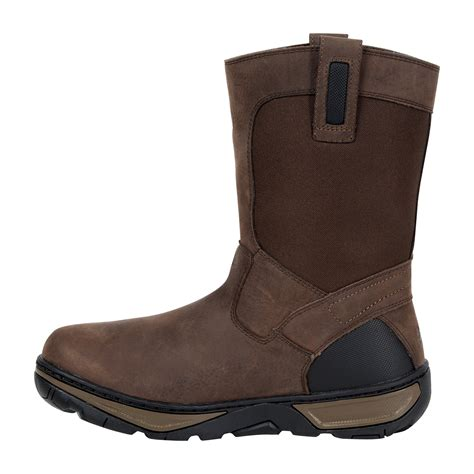 10 inch boots rocky forge 10 inch waterproof wellington work boot rk029