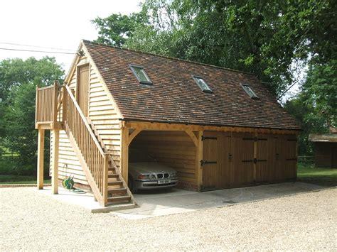 Oak Framed Car Port by 3 Bay Oak Garage With Car Port And Floor Car Port