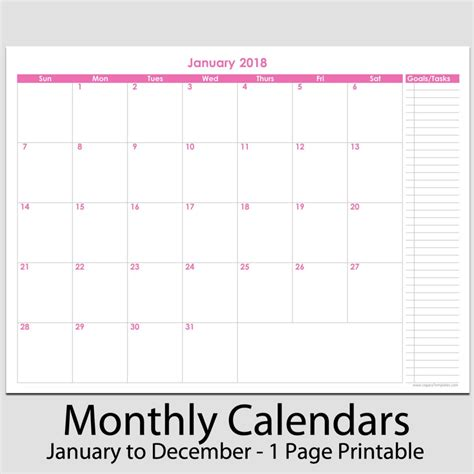 5 best images of two month calendar printable two page monthly
