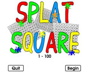 Printable Hundreds Chart Splat Board Interactive Website Techy Breaky