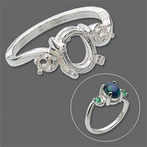 ring sterling silver 2 2 5mm 4 prong settings