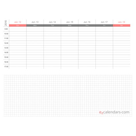 weekly appointment calendar template format