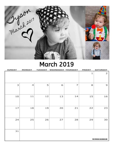 how to make a personalized calendar for free free 2019 personalized calendar free printable calendars