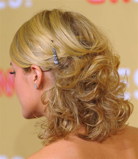 prom hairstyles half up half down curly medium hair classy pinned back hairstyles for prom half updo prom