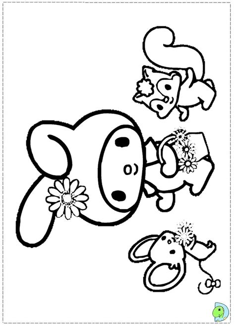 my melody coloring pages az coloring pages