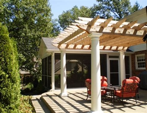 St Louis County Screen Room And Pergola With Sted How To Build A Pergola On Concrete Patio