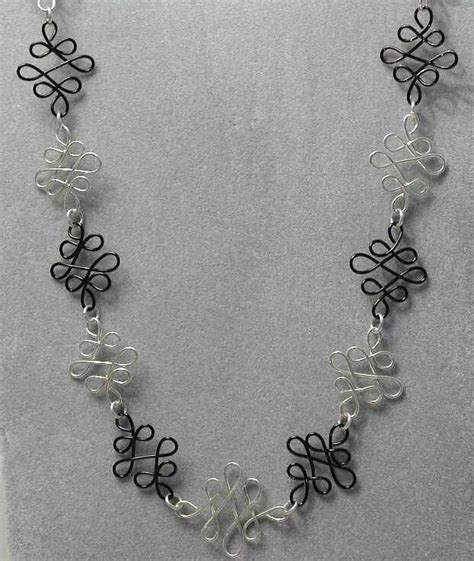 how to make silver jewelry at home black silver wire necklace