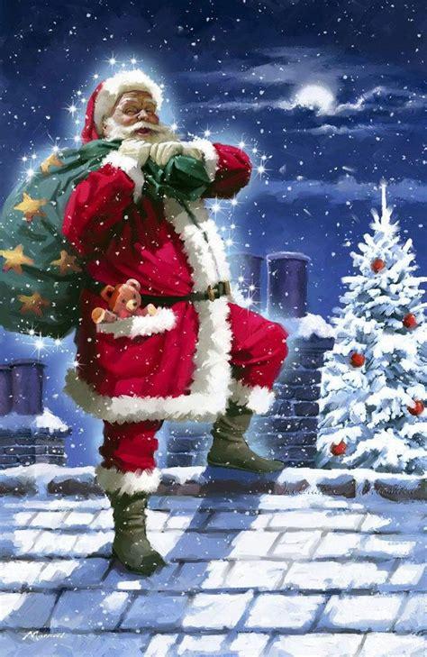 santa claus christmas scenes christmas pictures christmas