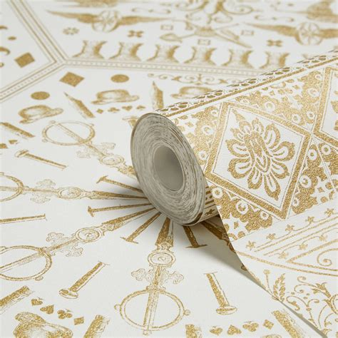 Graham & Brown Marcel wanders Gold & white Floral