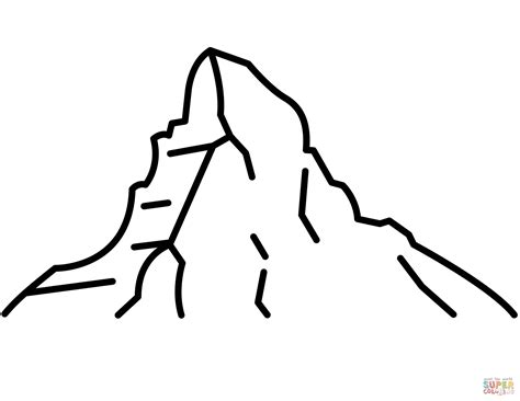 clipart montagna matterhorn coloring page free printable coloring pages