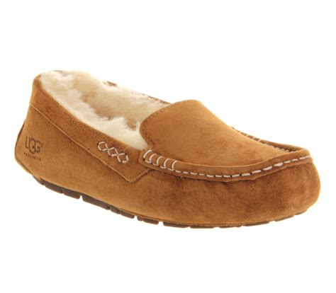 where house shoes ugg australia ansley slippers chestnut suede slippers