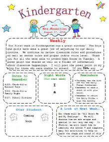 weekly newsletter a new year printable kindergarten newsletter template templates