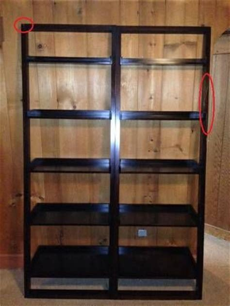 craigslist 130 crate and barrel leaning bookcases x2