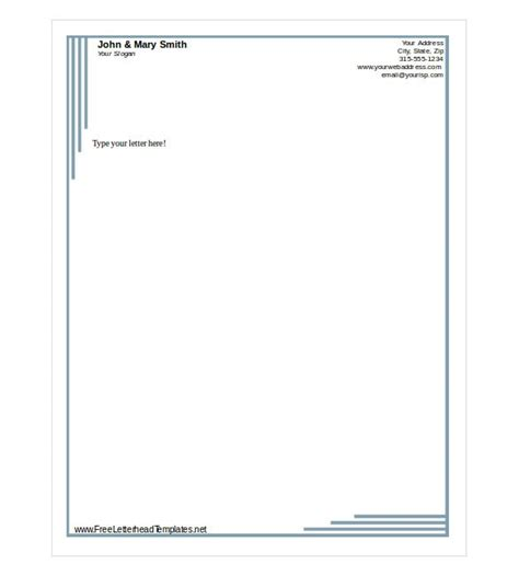 free letterhead templates doc update 27631 free letterhead templates for word 24