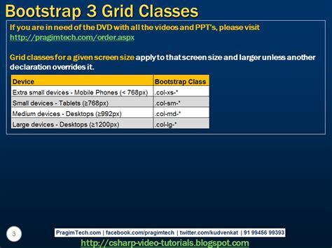 tutorial c classes sql server net and c video tutorial bootstrap 3 grid