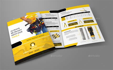 leaflet design tool hand tools products catalog bi fold brochure template by