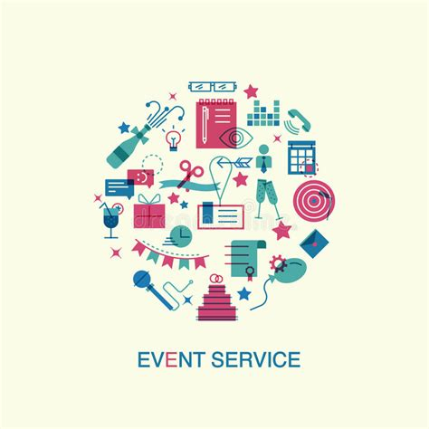 event layout vector flat design event marketing concept stock vector