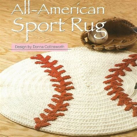 x885 crochet pattern only all american sport baseball rug