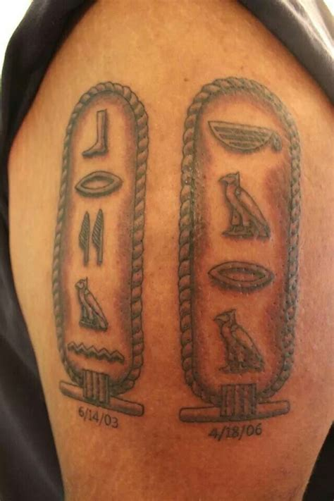 hieroglyphics tattoo awesome names in hieroglyphics