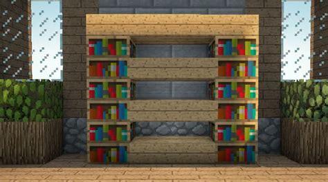 minecraft bookshelf  shelf design video minecraft