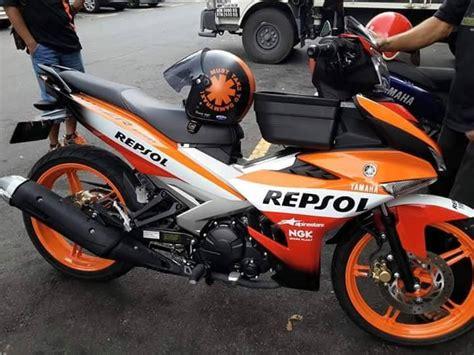 Visor Mx King Yamaha modifikasi exciter 150 mx king ala r1m asal negeri