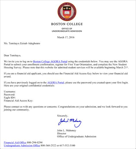 Acceptance Letter From Boston College Sat Prep Classes Sat Prep Sat Prep Sat Tutor Manhattan New York City Nyc