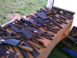 woodworking tools  billhooks  portable anvils