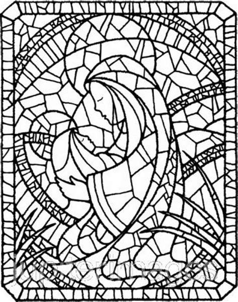 coloring pages of stained glass patterns the assumption of blessed virgin mary craft ideas