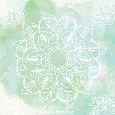 imagenes de fondo yoga green mandala background vector free download