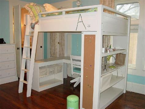 white loft bed with desk loft bed with desk white