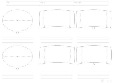 A Storyboard For Virtual Reality Cinematicvr Medium Vr Template