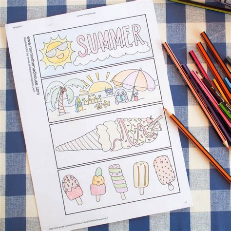 summer colouring bookmarks free summer colouring bookmarks mum in the madhouse