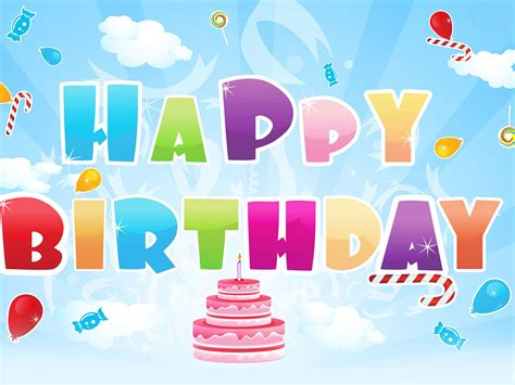 happy birthday greeting backgrounds presnetation ppt