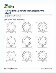 grade 2 telling time worksheets free amp printable k5