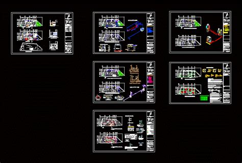 story house  garage  dwg full project