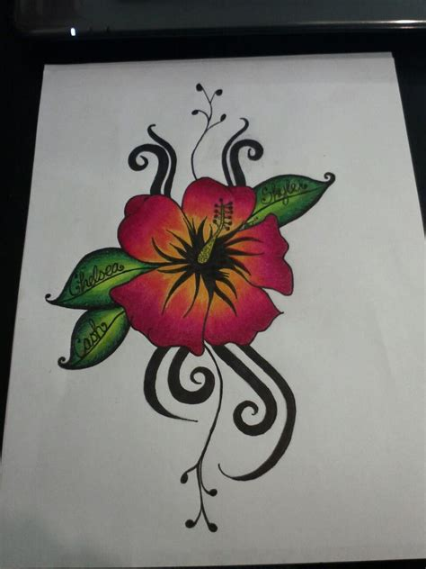 samoan hibiscus tattoo designs hibiscus flower design sle
